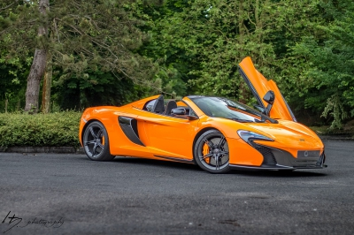 Mc Laren 650S Spider covering orange brillant